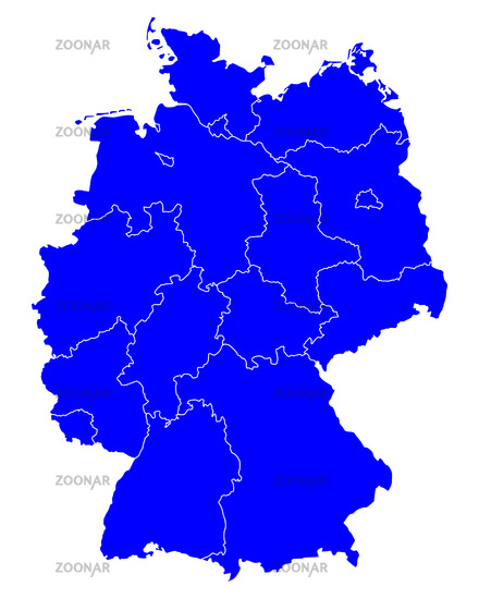 Foto Karte von Deutschland - Map of Germany Bild #7471717