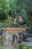 Thermal pool Caldeira Velha, Sao Miguel island on Azores