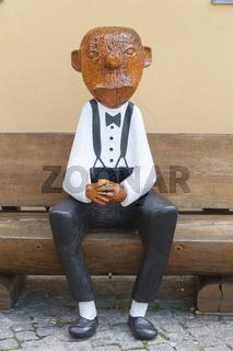 Holzskulptur von Loriot