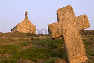 Kapelle St. Samson bei Landunvez, Bretagne, Frankreich, Europa