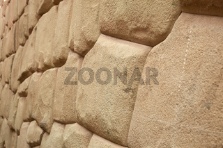 Inca wall in Cuzco Peru