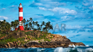 Kovalam Vizhinjam lighthouse. Kerala, India