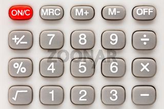 Calculator keypad.