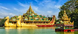 Karaweik royal barge, Kandawgyi Lake, Yangon