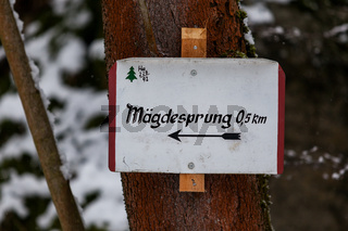 Beschilderung Wanderwege im Harz Selketal