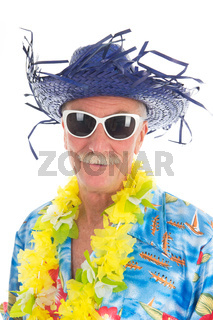 Retired man at the beach