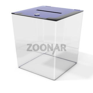 3d empty ballot box vote