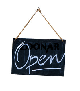 Isolated Hanging Open Sign
