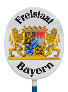 Schild Freistaat Bayern