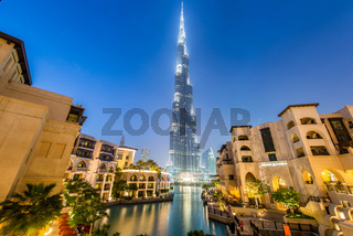 Dubai - JANUARY 9, 2015: Burj Khalifa building on January 9 in U
