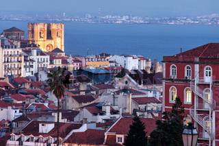 City of Lisbon in Portugal at Twilight