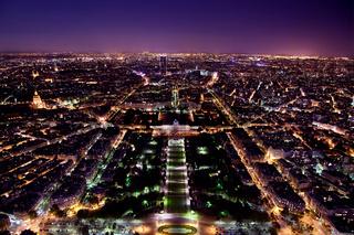 Paris panorama, France at night.