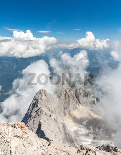 Zugspitze mountain top of Germany