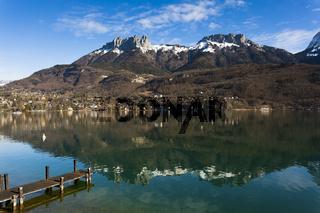Annecy lake, Haute-Savoie, Rhone-Alpes, France