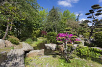 Japanese garden, Nantes, Pays de la Loire, France