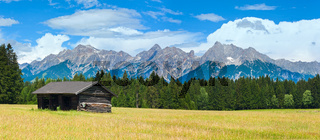 Alps summer panorama (Austria).