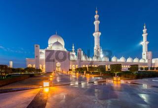 Sheikh Zayed Mosque in Abu Dabi