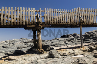 Holzsteg am Diaz Point, Namibia, Afrika, boardwalk at Diaz Point, Namibia, Africa
