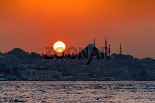 Sonnenuntergang in Istanbul