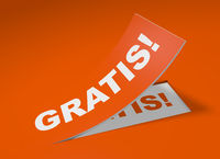 3D Etikett Orange - Gratis