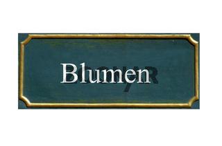 schild blumen