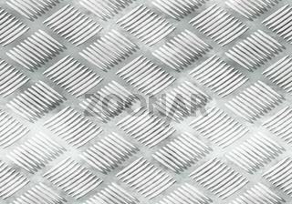 Ribbed metal plate