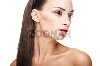 Beauty face of woman with clean fresh skin