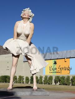 Marilyn Monroe Figur in Palm Springs