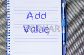 Add value write on notebook