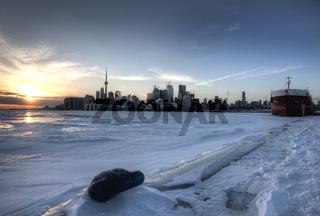 Toronto Ontario from Polson Pier