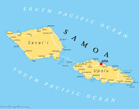 Samoa Landkarte
