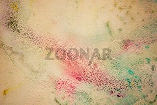 Colorful watercolor paint on vintage canvas. Super high resolution and quality background