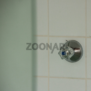 Duschkabine in einem Alten Thermalsolebad in Bad Soden