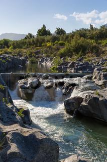 Wasserfall Alcantara hoch