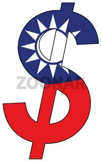 dollar - flag of taiwan