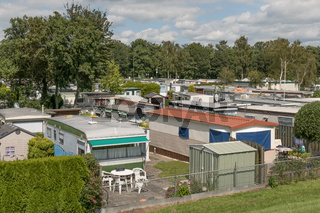 NETHERLANDS - LEMMER - MEDIA JULY 2015: Mobile homes in the town camping Lemmer.