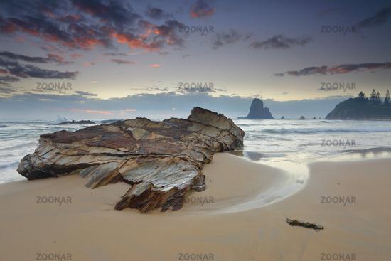 Windy morning at Narooma coast