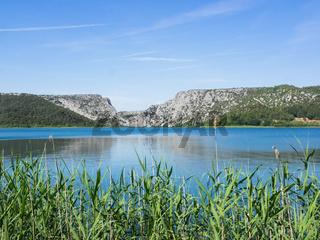 Landschaft im Krka Nationalpark in Kroatien