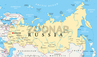 Russland Landkarte