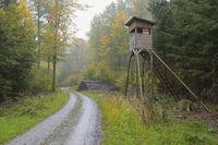 Hochsitz im Wald, Deutschland