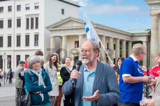 Demo gegen Gigaliner in Berlin