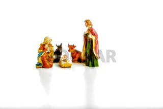 The Holy Family in a Christmas Crib