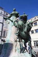Statue in La Rochelle, Charente-Maritime, France