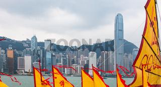 HONGKONG INSEL NORDSEITE, STADTANSICHT