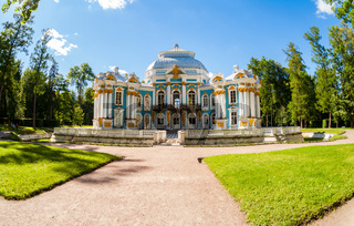 Hermitage Pavilion at the Catherine Park, Tsarskoye Selo in summer sunny day