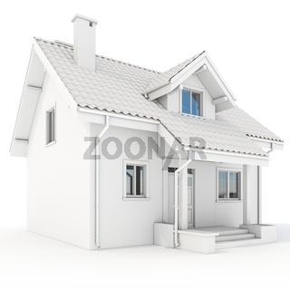 3d contemporary house, villa