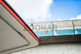 Dach einer alten Gasolin Tankstelle, Hamburg