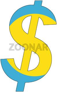 dollar - flag of palau