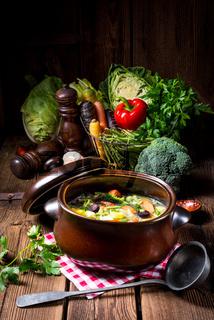 light vegetable soup
