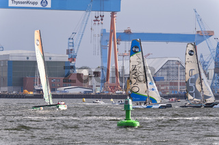 Extreme 40 Catamaran Regatta in Kiel, Germany